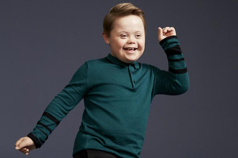 Star quality: Joseph Hale, 11, was picked for the new ad campaign: PA