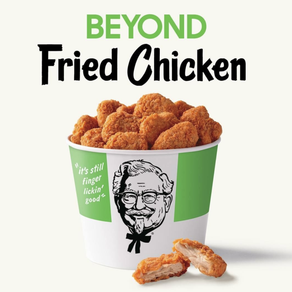 KFC has introduced vegan fried chicken to its menu in more than 50 stores across California. Source: Instagram/kfc
