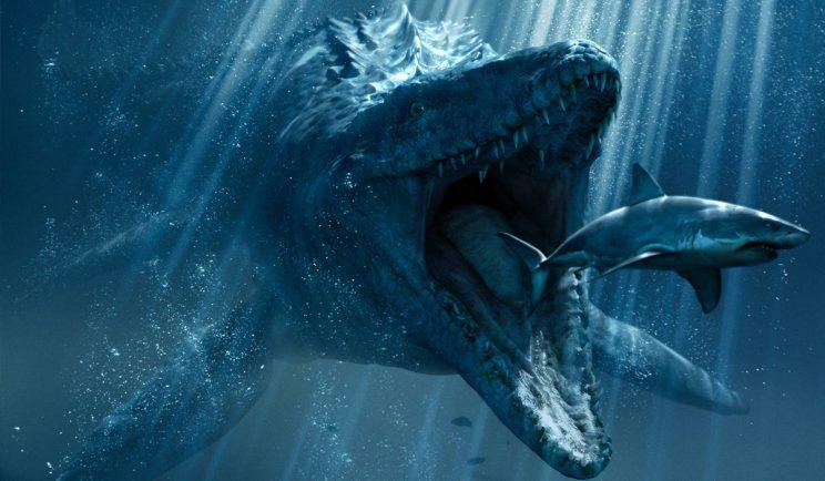 A Mosasaurus hunts its prey in Jurassic World - Credit: Universal Pictures