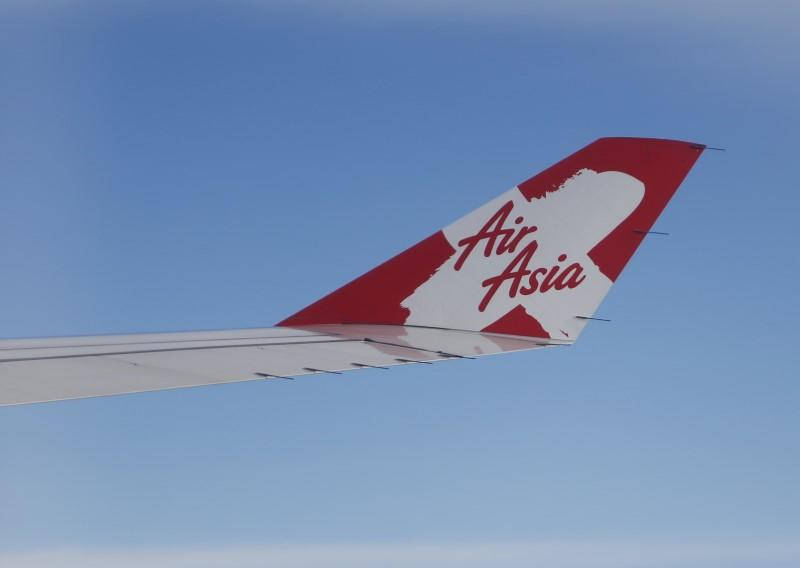 The wing of an Air Asia plane travelling from Sri Lanka to Malaysia