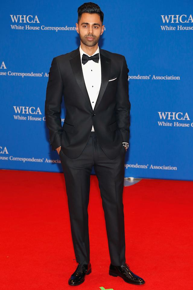 "<p>WHERE: At the 2017 White House Correspondents' Association Dinner in Washington, DC</p><p>WHEN: April 29, 2017</p><p>WHY: We knew <a rel=""nofollow"" href=""http://www.gq.com/story/hasan-minhaj-daily-show-trump-wokeness?mbid=synd_yahoostyle"">Minhaj knew how to dress well</a>, we just maybe didn't realize he knew how to dress leading man well.</p>"