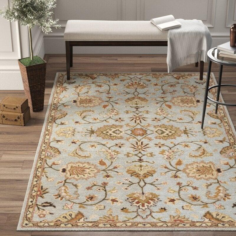 "<br><br><strong>Birch Lane</strong> Handmade Tufted Wool Rug (2' x 3'), $, available at <a href=""https://go.skimresources.com/?id=30283X879131&url=https%3A%2F%2Fwww.wayfair.com%2Frugs%2Fpdp%2Fbirch-lane-oriental-handmade-tufted-wool-graydark-brown-area-rug-w000748707.html%3Fpiid%3D1390285855"" rel=""nofollow noopener"" target=""_blank"" data-ylk=""slk:Wayfair"" class=""link rapid-noclick-resp"">Wayfair</a>"