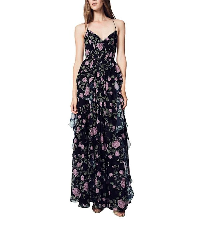 "<p>Fame and Partners Floral Ruffle Gown, $225, <a href=""https://www.macys.com/shop/product/fame-partners-floral-ruffle-maxi-gown?ID=4750987&cm_mmc=Polyvore-_-Polyvore_RTW_PLA-_-n-_-gowns"" rel=""nofollow noopener"" target=""_blank"" data-ylk=""slk:macys.com"" class=""link rapid-noclick-resp"">macys.com</a>. </p>"