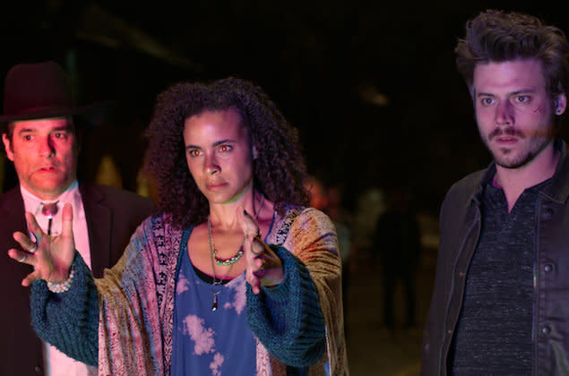 A small town full of otherworldly beings welcomed a stranger into its midst as Midnight, Texas premiered Monday on NBC. But did the supernatural drama make you feel at home, too? In a moment, we'll want to hear what you thought of True Blood author Charlaine Harris' latest TV adaptation. But first, a brief recap: Manfred (The […]