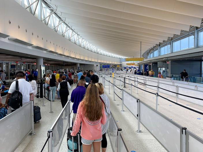 Flying out of JFK Airport during the COVID-19 pandemic.