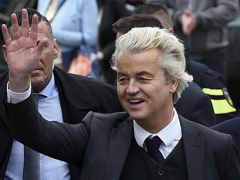 Far right politician Geert Wilders has been running neck and neck with the Netherlands's Prime Minister: Getty