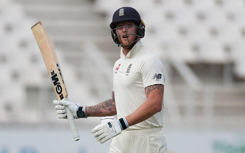 Ben Stokes is dismissed for two and en route to swearing at a spectator before he headed up the Wanderers tunnel on day one of the fourth Test between South Africa and England  - REUTERS