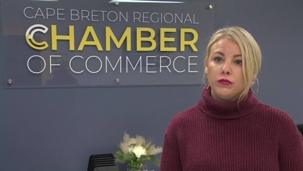 Kathleen Yurchesyn, CEO of the Cape Breton Regional Chamber of Commerce, says volunteers are needed to help recruit and retain health-care professionals. (Matthew Moore/CBC - image credit)