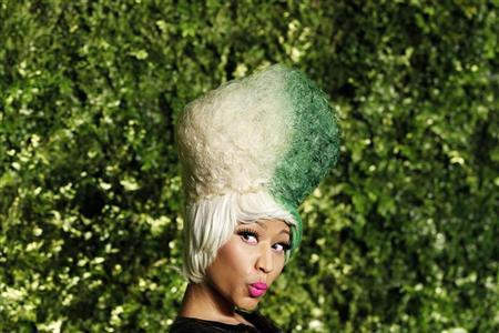 Singer Nicki Minaj arrives for the Christie's Green Auction: Bid To Save The Earth event in New York