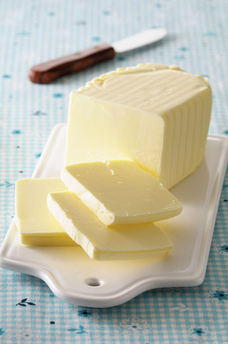 """<p>Grocery store shelves are now packed with plant-based butter options, which are typically made with an oil base. But """"plant-based"""" doesn't always equal """"healthy,"""" Upton says. """"They're often high in saturated fat,"""" she says.</p>"""