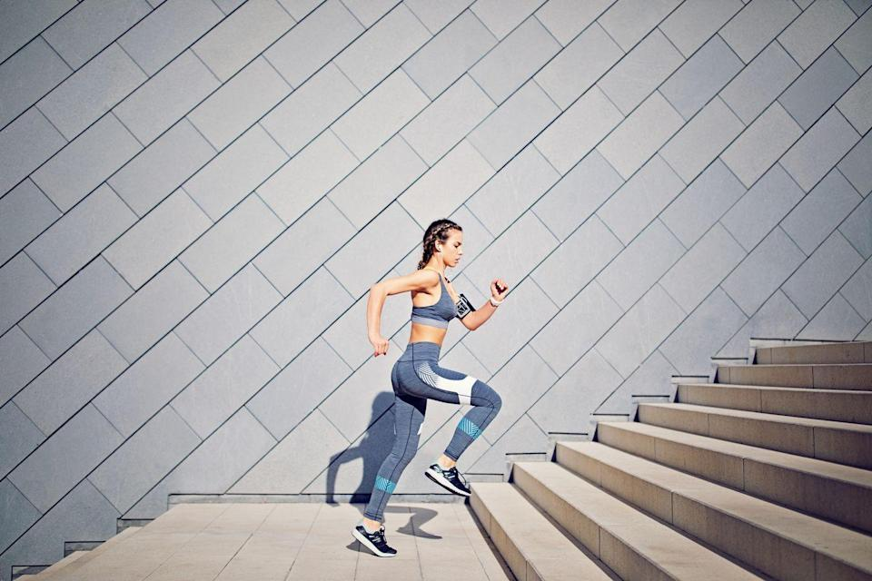 "<p>Exercise does just as much for your mind as it does for your muscles. ""Blend or alternate aerobics with <a href=""https://www.prevention.com/fitness/fitness-tips/a26765994/benefits-of-lifting-weights/"" rel=""nofollow noopener"" target=""_blank"" data-ylk=""slk:strength training"" class=""link rapid-noclick-resp"">strength training</a>, <a href=""https://www.prevention.com/fitness/a20515035/benefits-of-stretching-every-day/"" rel=""nofollow noopener"" target=""_blank"" data-ylk=""slk:stretching"" class=""link rapid-noclick-resp"">stretching</a>, flexibility, and agility exercises for an endorphin boost,"" suggests Kathleen Hall, PhD, founder and CEO of <a href=""https://mindfullivingnetwork.com/"" rel=""nofollow noopener"" target=""_blank"" data-ylk=""slk:The Mindful Living Network"" class=""link rapid-noclick-resp"">The Mindful Living Network</a> & <a href=""https://stressinstitute.com/"" rel=""nofollow noopener"" target=""_blank"" data-ylk=""slk:The Stress Institute"" class=""link rapid-noclick-resp"">The Stress Institute</a>. Up the ante by making your sweat sesh social. One <a href=""https://www.ncbi.nlm.nih.gov/pubmed/29084328"" rel=""nofollow noopener"" target=""_blank"" data-ylk=""slk:study"" class=""link rapid-noclick-resp"">study</a> found that people who participated in group exercise saw greater improvements in mental, physical, and emotional health than those who worked out solo.</p>"