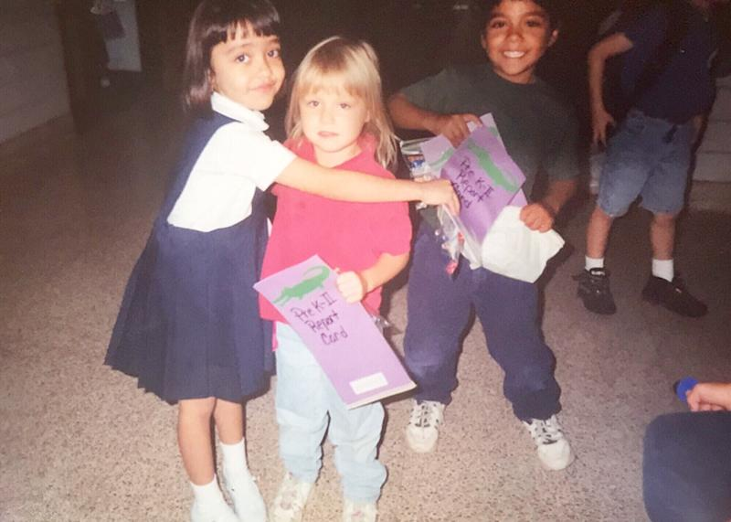 Karla Perez on her last day of pre-K with her first school friend. (Courtesy of Karla Perez)