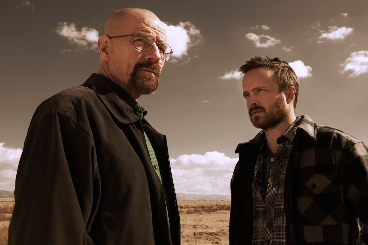 "Walter White (Bryan Cranston) and Jesse Pinkman (Aaron Paul) in ""Breaking Bad"" Season 5."