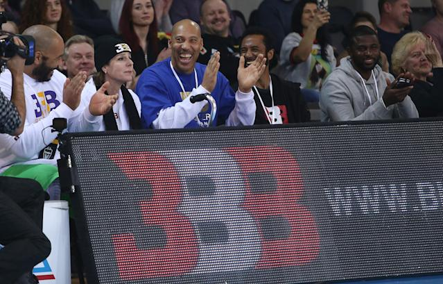 While promoting his JBA league, LaVar Ball said that kids who want to be a professional athlete don't need to spend half of their time in class because they aren't going to use what they learn in there anyways. (Alius Koroliovas/Getty Images)