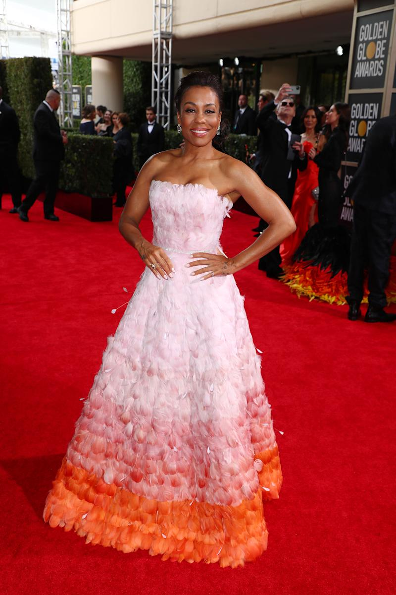 Karen Pittman at the 2020 Golden Globes