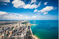 <p>The only city-lake on this list is <strong>Lake Michigan. </strong>While the Chicago lakefront is the most famous stretch of Lake Michigan, the massive body of water borders four states and boasts miles of natural shores. </p>