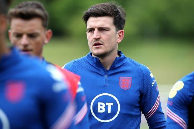 Harry Maguire was one of the three players yellow-carded in the win against Germany (Nick Potts/PA).
