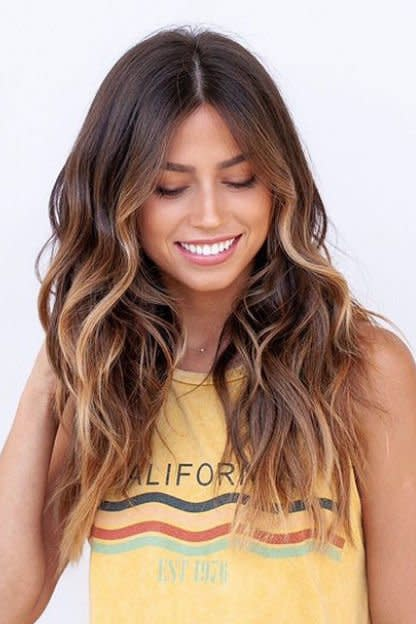 <p>Did someone order smooth, melty caramel? Because we think we just found it. Balayage color is perfect for gals looking to make their fall 'do as low maintenance as possible. </p>