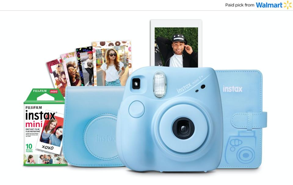 "If they're always wondering how to work their phone's camera, you might get them a Fuji camera that'll give them instant gratification. This bundle comes with an instant camera, film sheets, photo album and camera case. <a href=""https://www.walmart.com/ip/Fuji-Instax-Mini-7-Camera-Bundle-Ltblue/567888022?sourceid=aff_ov_9d0f975a-a7e8-405c-b257-311a32fb0da1&veh=aff&wmlspartner=aff_ov_9d0f975a-a7e8-405c-b257-311a32fb0da1&cn=FY21-Holiday-Gifting_st_hw_aff_nap_ov_snl_oth"" target=""_blank"" rel=""noopener noreferrer"">Find it $69 at Walmart</a>."