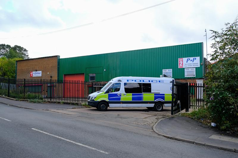 The men were found in the car park off Moor Street, in Brierley Hill, Dudley (Picture: SWNS)