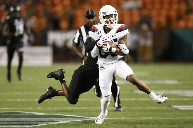 Byrd's 4 TD night leads Hawaii past Arizona 45-38