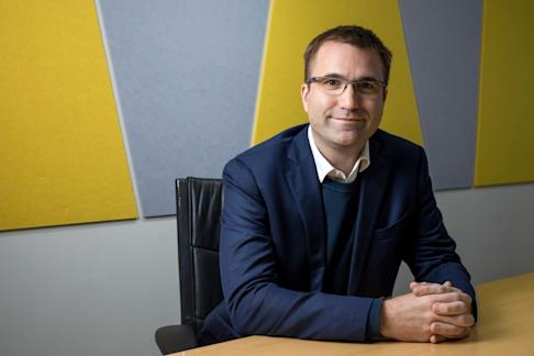 Pierre Poignant, co-founder and chief executive of Lazada Group, says the e-commerce company has been growing at triple digits for the past three quarters. Photo: Bloomberg