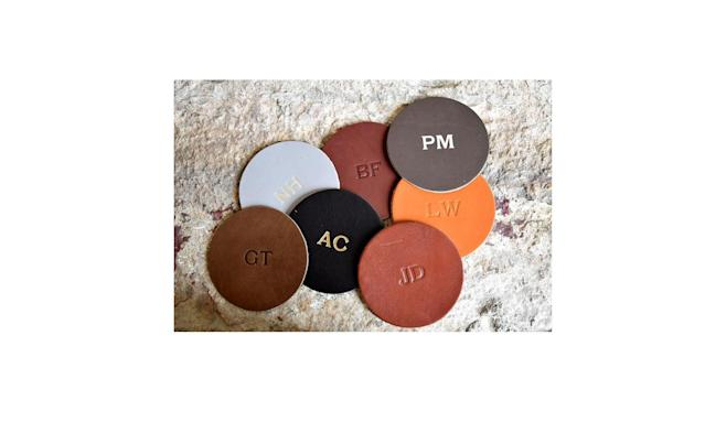 "<p>Let Mom know you've taken in her advice about glasses on tables by giving her this snazzy set of leather coasters. <br><br>Custom Leather Circle Coasters Set of 4, $19, <a href=""https://www.amazon.com/dp/B079H46ZKW/ref=gbps_img_m-3_cd28_cadebd76?smid=A1UJNIMJXN8V7W&pf_rd_p=8d880419-7d85-4ca1-9cf9-4e6f9a1bcd28&pf_rd_s=merchandised-search-3&pf_rd_t=101&pf_rd_i=17608877011&pf_rd_m=ATVPDKIKX0DER&pf_rd_r=4E5DWZZACRVYTVN6BJ5M"" rel=""nofollow noopener"" target=""_blank"" data-ylk=""slk:amazon.com"" class=""link rapid-noclick-resp"">amazon.com</a> </p>"