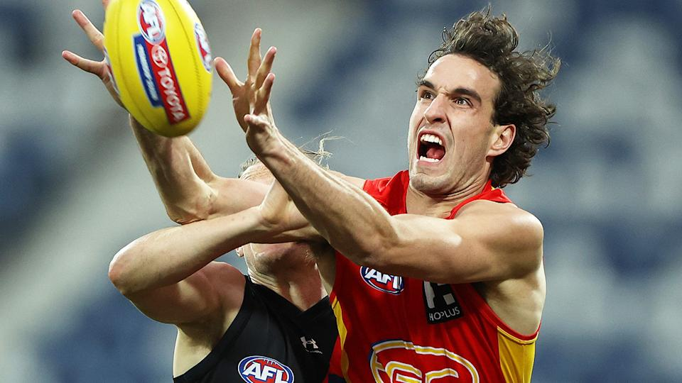 Gold Coast's Ben King has been heavily linked to trades to St Kilda or Essendon, despite still being contracted to the Suns. (Photo by Robert Cianflone/Getty Images)