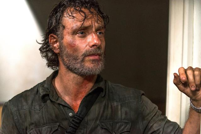 Andrew Lincoln as Rick in  <i>The Walking Dead</i>. (Photo: AMC)