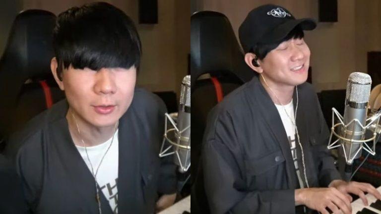 <p>Singaporean singer JJ Lin surprised his fans with a live streaming concert on March 17 after returning to Taipei. (Screenshot from the video)</p>