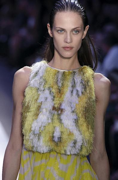 Slicked back tresses at the Giambattista Valli Spring/Summer 2012 ready-to-wear show