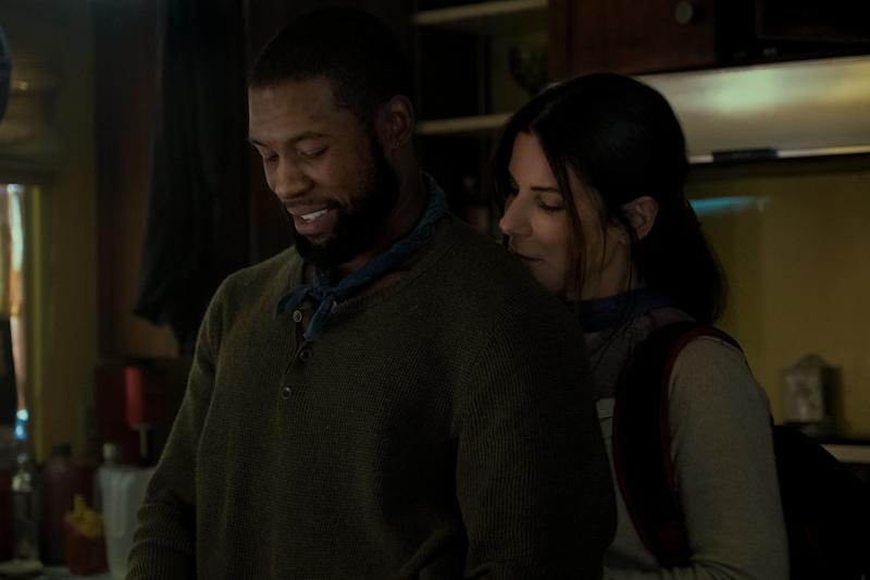 "Trevante Rhodes and Sandra Bullock in ""Bird Box."" (Photo: Netflix)"