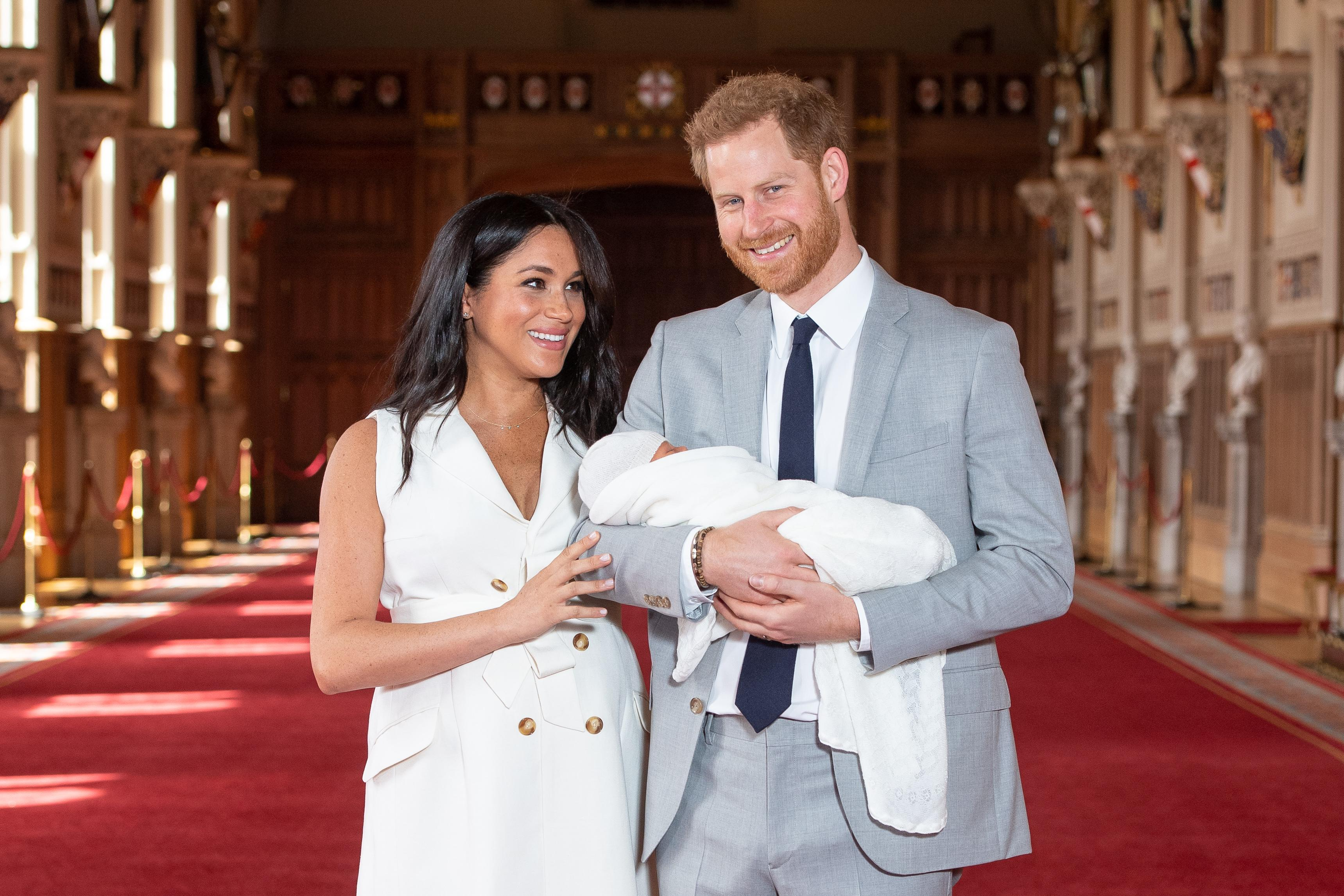 Embargoed to 0001 Tuesday June 25 File photo dated 08/05/19 of the Duke and Duchess of Sussex with their baby son Archie Harrison Mountbatten-Windsor, during a photocall in St George's Hall at Windsor Castle in Berkshire. The funding for the Duke and Duchess of Sussex's activities in the year Meghan officially joined the royal family contributed to a ??5 million bill to the Prince of Wales.