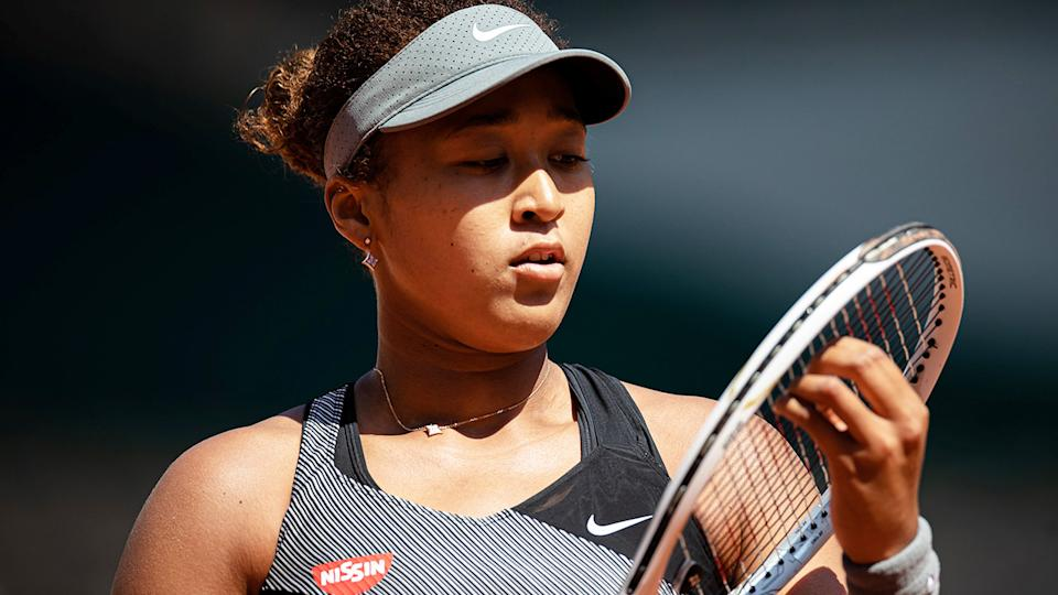 Naomi Osaka, pictured here in action against Patricia Maria Tig at the French Open.