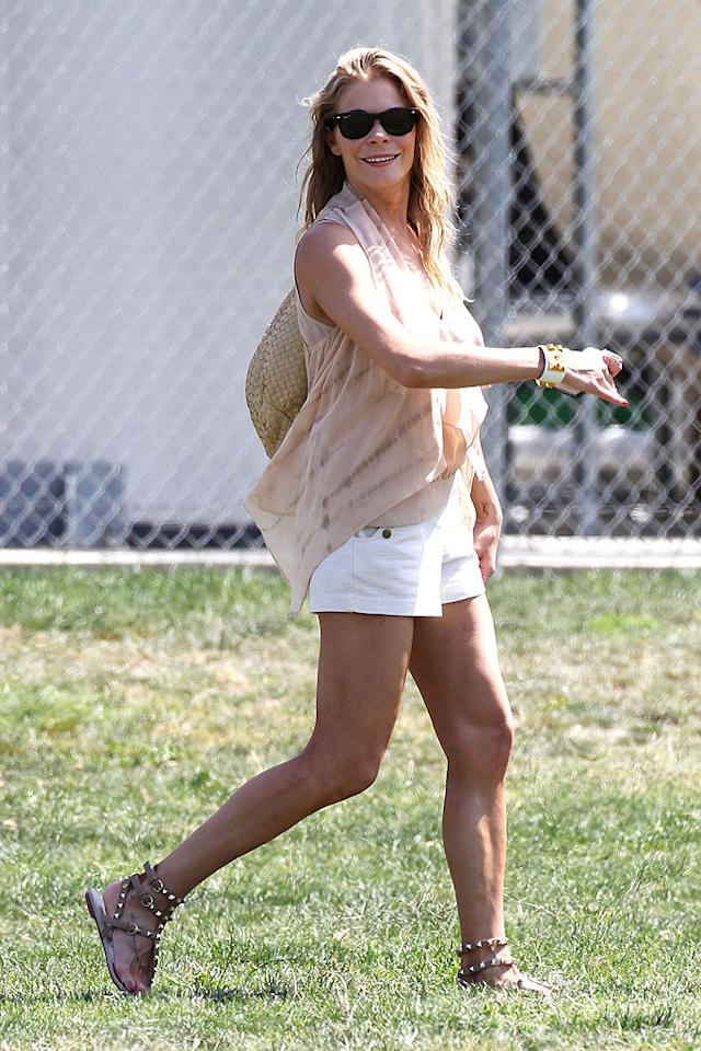 "LeAnn Rimes tried to prove she's one cool stepmom when she showed up to hubby Eddie Cibrian's son Jake's soccer game in itsy-bitsy white shorts this spring. Perhaps she was just trying to one-up her man's ex-wife, ""Real Housewives of Beverly Hills"" star Brandi Glanville, who was also watching from the sidelines. From the looks of LeAnn, she probably won this round. (5/6/2012)"