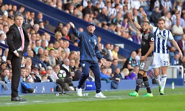 "<span class=""element-image__caption"">Tony Pulis's West Brom side passed 40 points in February but have won only one of their last six games.</span> <span class=""element-image__credit"">Photograph: Anthony Devlin/Reuters</span>"