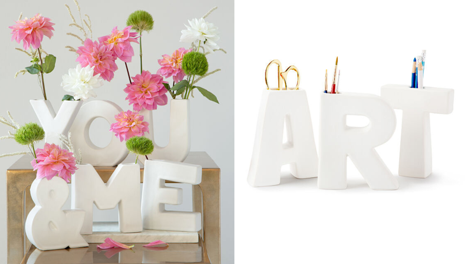 Best personalized gifts: The Alphabet Vase