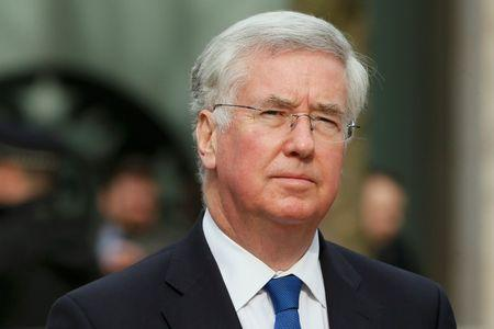 Britain's Defence Secretary Michael Fallon arrives for the Afghanistan service of commemoration at St Paul's Cathedral in London