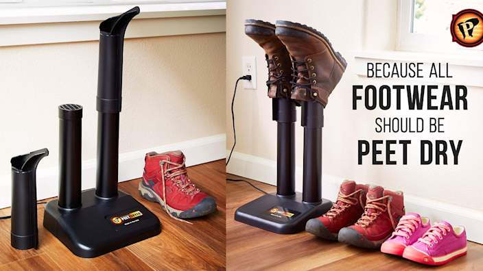 The PEET dryer works with all types and styles of shoes.