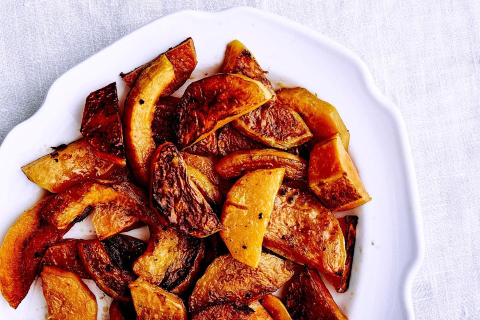 "For more variations and veggie inspiration, check out our <a href=""http://www.bonappetit.com/test-kitchen/how-to/article/simple-roasted-vegetables/?mbid=synd_yahoo_rss"" rel=""nofollow noopener"" target=""_blank"" data-ylk=""slk:roasted veggie matrix"" class=""link rapid-noclick-resp"">roasted veggie matrix</a>. <a href=""https://www.bonappetit.com/recipe/roasted-butternut-squash-2?mbid=synd_yahoo_rss"" rel=""nofollow noopener"" target=""_blank"" data-ylk=""slk:See recipe."" class=""link rapid-noclick-resp"">See recipe.</a>"