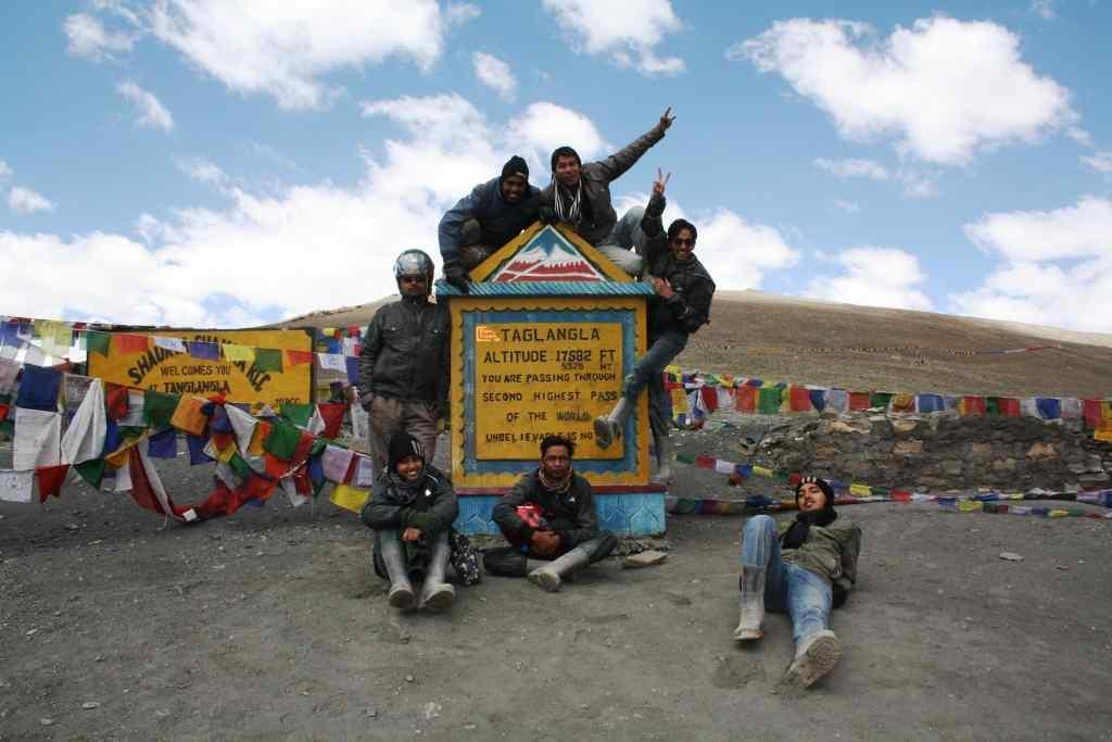 At Tanglang La, the second-highest motorable pass in the world.
