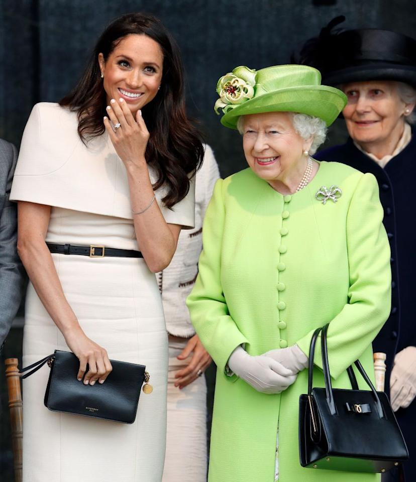 "<p>There's actually a super sweet reason behind the Queen's love of bright, cheerful colors. The documentary <em><a href=""https://www.amazon.com/The-Queen-at-90/dp/B01GOKQDSW"" target=""_blank"">The Queen at 90</a></em> explains her wardrobe is colorful to help her subjects catch a glimpse at her. ""She needs to stand out for people to be able to say 'I saw the Queen',"" Sophie, Countess of Wessex, said in the film.""Don't forget that when she turns up somewhere, the crowds are two, three, four, 10, 15 deep, and someone wants to be able to say they saw a bit of the queen's hat as she went past."" </p>"