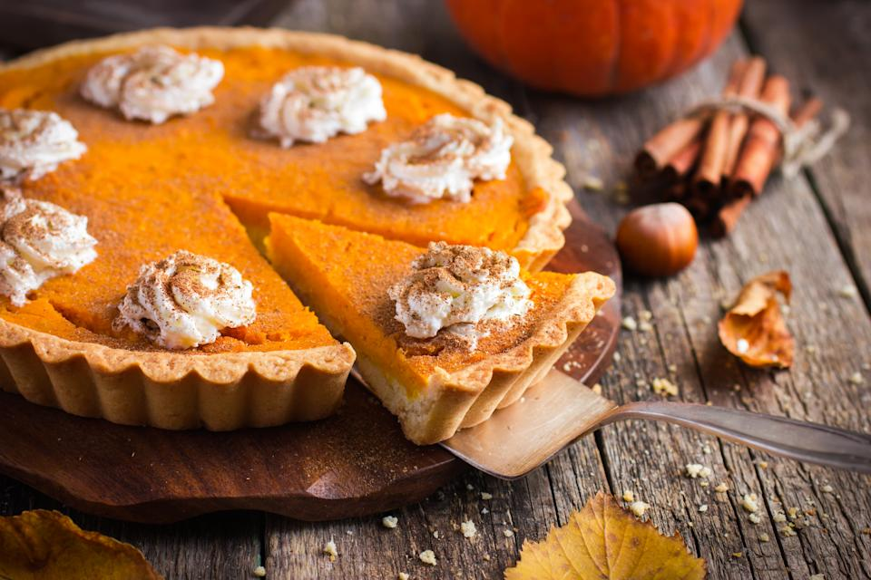 Pumpkin pie wasn't actually served by pilgrims at the first Thanksgiving (Photo: Getty)