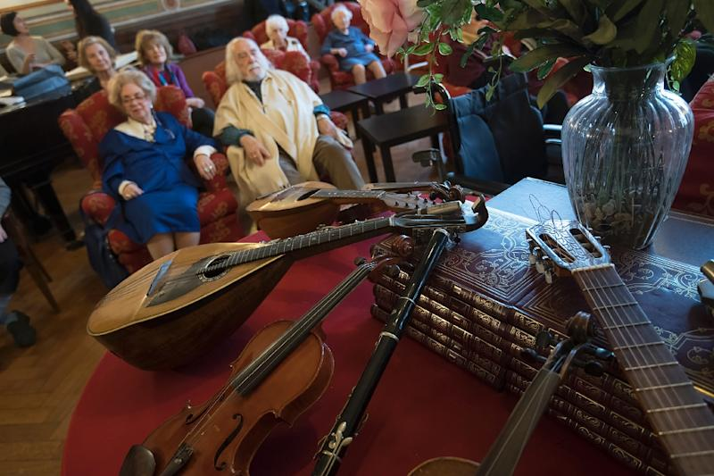 Retired and often destitute musicians play out their days at Casa Verdi, a retirement home in Milan set up by Italian composer Giuseppe Verdi (AFP Photo/Miguel MEDINA)