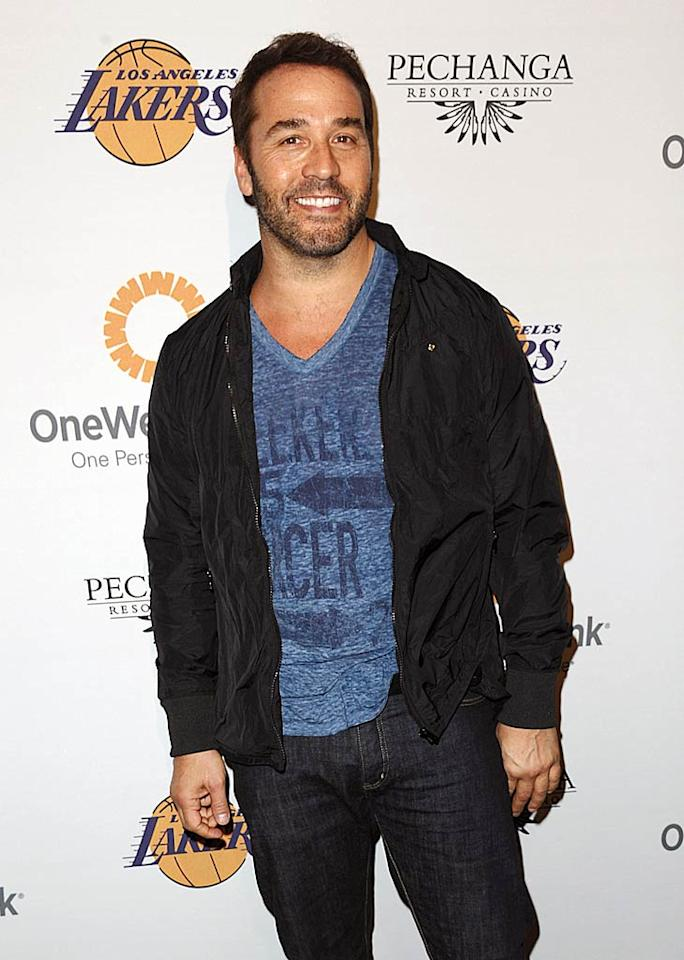 "Diehard Lakers fan Jeremy Piven was on hand to give back at the benefit. The ""Entourage"" actor has recently been touted as one of the potential replacements for Charlie Sheen on ""Two and a Half Men."" Do you think he'd do a good job in the role? Jason LaVeris/<a href=""http://www.filmmagic.com/"" target=""new"">FilmMagic.com</a> - April 3, 2011"