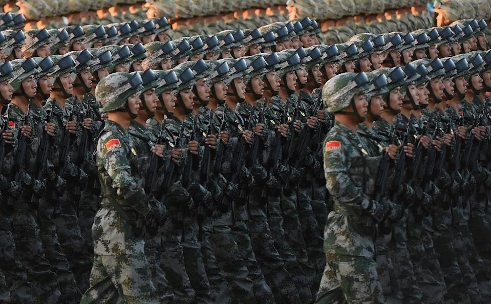 China is engaged in a decades-long build-up and modernisation of its once-backward armed forces (AFP Photo/Greg Baker)