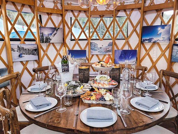Even restaurants in frigid wintry locations have embraced the outdoor dining trend. The St. Regis Deer Valley, a ski hotel in Park City, Utah, imported three Mongolian yurt tents to create its Yurt Village, which will become a winter fixture going forward post-pandemic. In summer, the space is transitioned to a new beer garden.