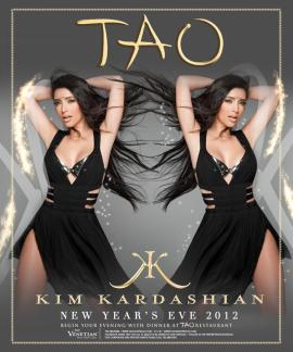Kim Kardashian $600,000 Tao Fergie 10AK Las Vegas Celebrities New Year's Eve