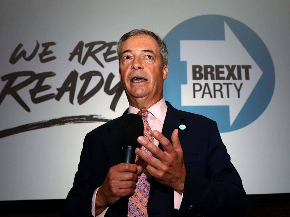 Brexit Party leader Nigel Farage: AFP/Getty Images