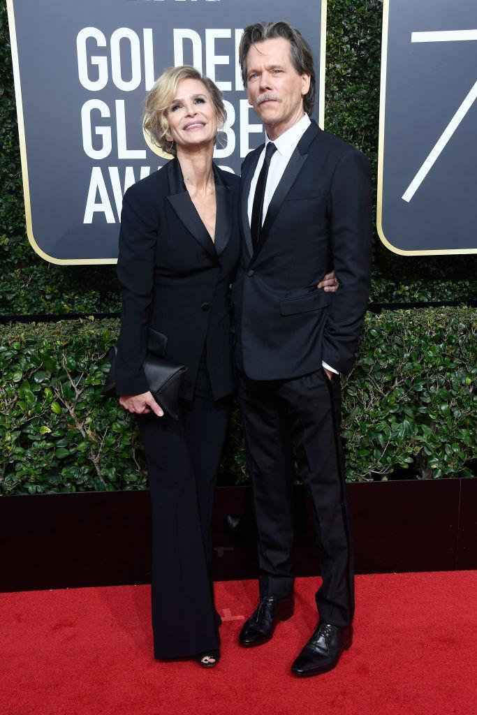 <p>Kevin Bacon, nominated as Best Actor in a TV Comedy for<em> I Love Dick</em>, and his wife, Kyra Sedgwick, attend the 75th Annual Golden Globe Awards at the Beverly Hilton Hotel in Beverly Hills, Calif., on Jan. 7, 2018. (Photo: Steve Granitz/WireImage) </p>